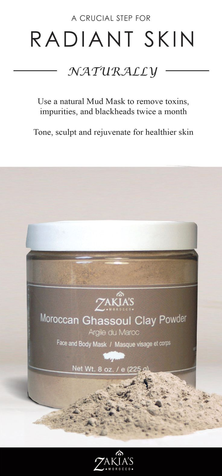 I love Ghassoul.  It is great for deep cleaning and giving body to my hair and helps detox and clean my skin like nothing else.  Love it!
