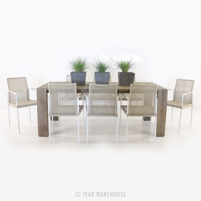 Zumba dining table and 8 moderno chairs outdoor for Chair zumba