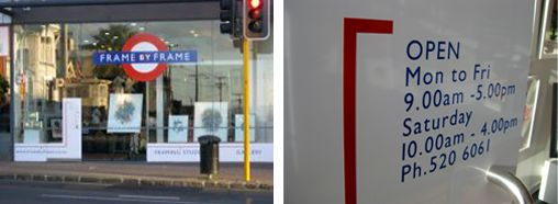 Frame-By-Frame - Neal Palmer prints 27 Remuera Road Newmarket