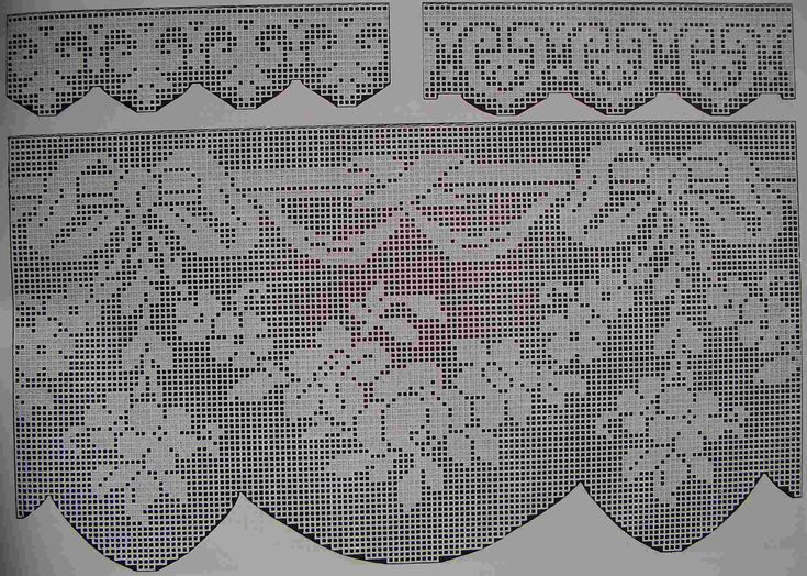 Curtain border crochet