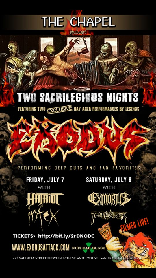 Rob Dukes To Rejoin EXODUS For Special Performance