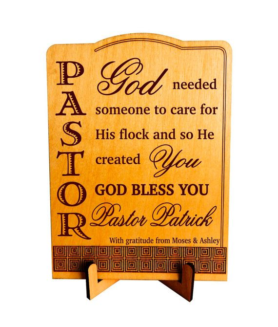 Pastor Keepsake Gift, Pastor Appreciation Plaque / Sign, Custom Pastor Gift, Birthday Gift for Pastor, Greeting Cards with Stand, Postcards.