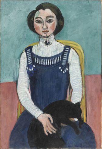 #chArt pour le rendez-vous chat en peinture dule #Blog #GymYoga : Marguerite au chat noir de #Matisse, 1910. Un autre #lundi suos le signe de l'Art. http://blog.gym-yoga.fr/marguerite-au-chat-noir-de-matisse/