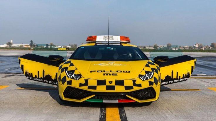 Lamborghini Huracan surprises travelers at Italy's Bologna airport