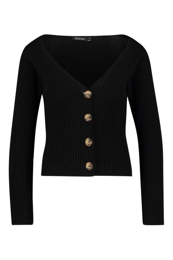 b7d69db9fb0 Wide Rib Knit Button Up Cardigan | Rebecca James | Rib knit, Buttons ...