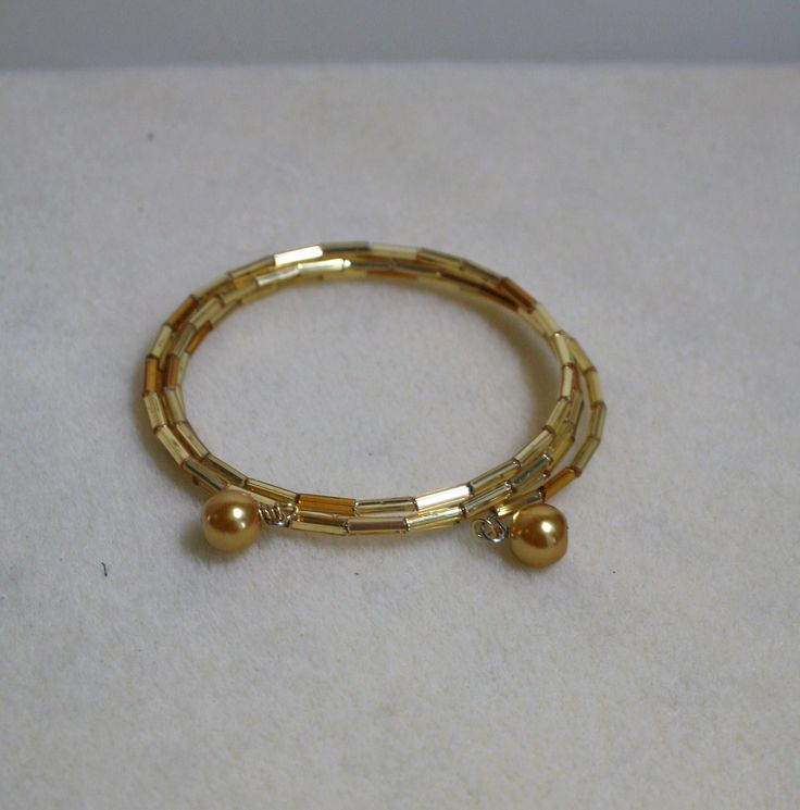 Golden memory wire bracelet  www.facebook.com/Supposejewellery
