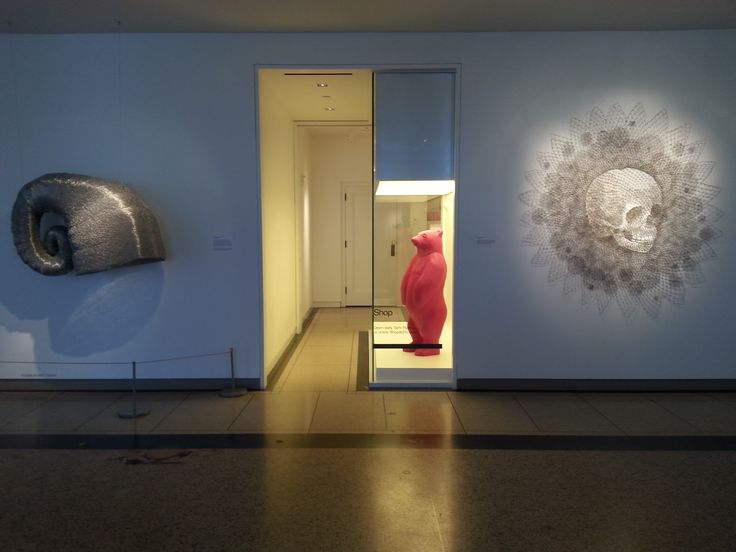 21C Hotel. 'Child Skull' is by Walter Oltmann