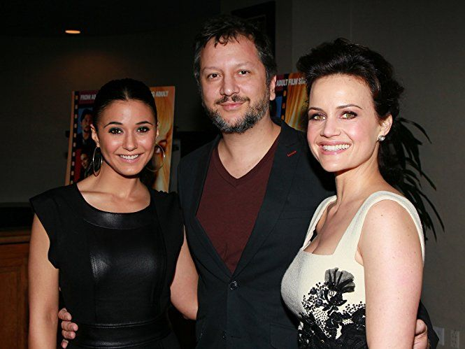 Carla Gugino, Emmanuelle Chriqui, and Sebastian Gutierrez at an event for Elektra Luxx (2010)