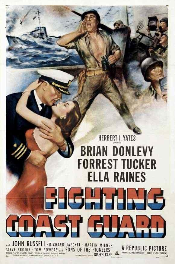 Movie poster. Fighting Coast Guard (1951) Brian Donlevy, Forrest Tucker, Ella Raines