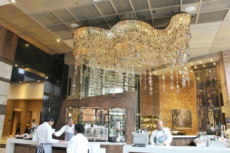 Park Hyatt Hotel Rosebank Johannesburg chandelier dècor