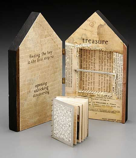 art book by Laura Davidson.  Hmmm, a boring outside book safe with a teeny journal inside?