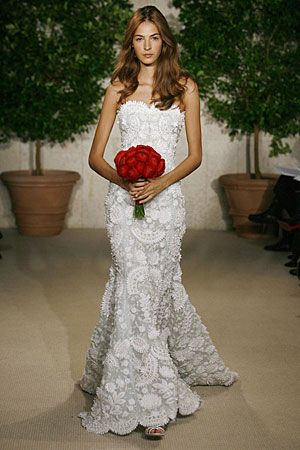 The style is far from mine but the lace embroidery is divine