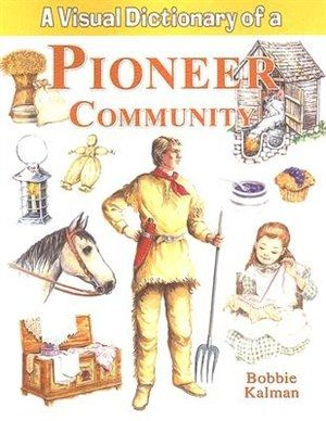 Similar in themes to A Colonial Community, this book illustrates a different kind of life in the early 1900s. A Pioneer Community shows different homes, from the first dirt-floor house to the fancy Victorian-era home. A visual map of a pioneer community gives the young reader a quick overview of the buildings it contains. Other topics include: early transportation, craftspeople and their tools, clothing styles, and farm life.