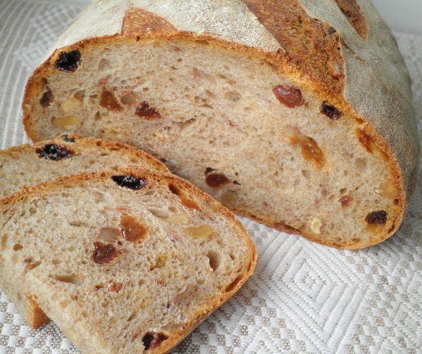 Хлеб с изюмом и грецким орехом (Jeffrey Hamelman)