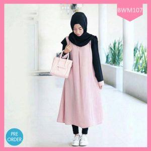 Dress Wanita Muslimah Cute Pink Terlaris