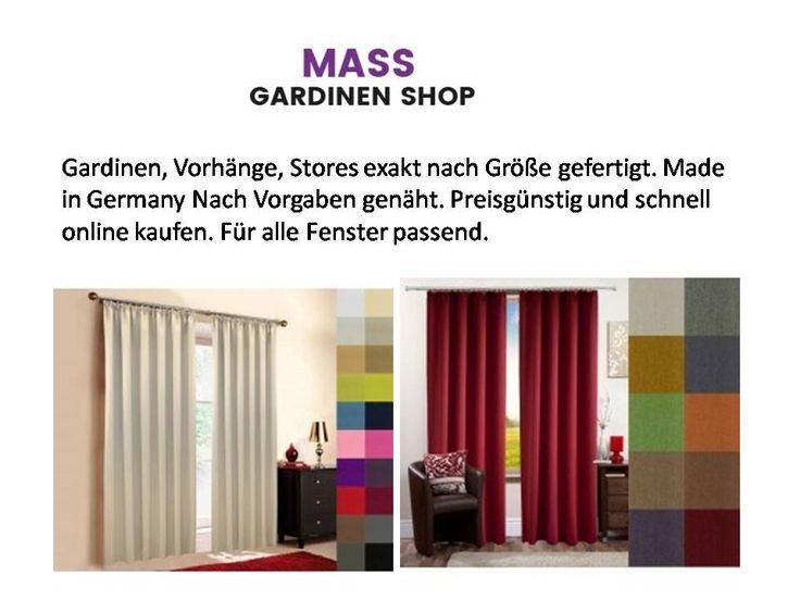 Gardinen, Vorhänge, Stores exakt nach Größe gefertigt. Made in Germany Nach Vorgaben genäht. Preisgünstig und schnell online kaufen. Für alle Fenster passend.
