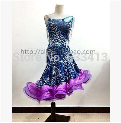 Латинский танец костюм сексуальная перл рукавов леопарда латинский танец платье для женщин латинский танец конкурс костюм платья
