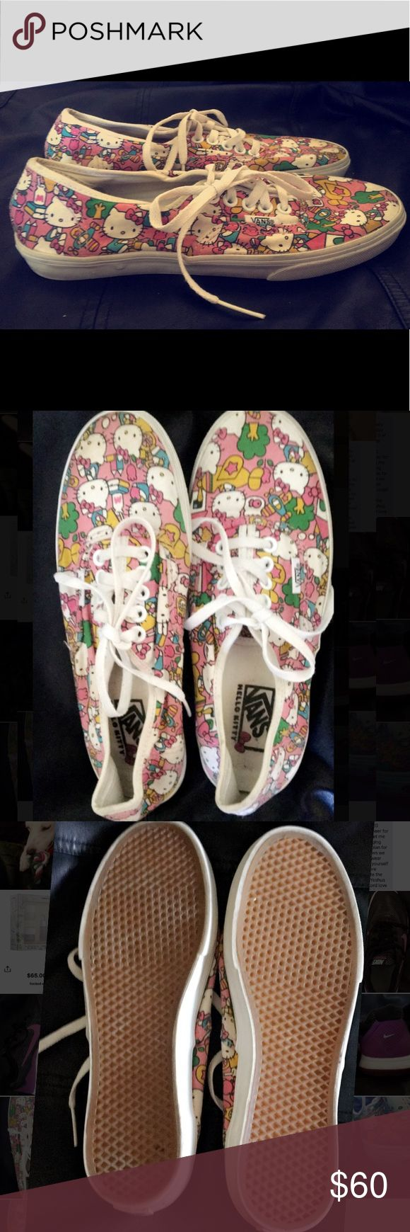 Limited Edition Hello Kitty Vans Limited Edition Hello Kitty Vans multicolor women 6.5 men 5 Vans Shoes Sneakers