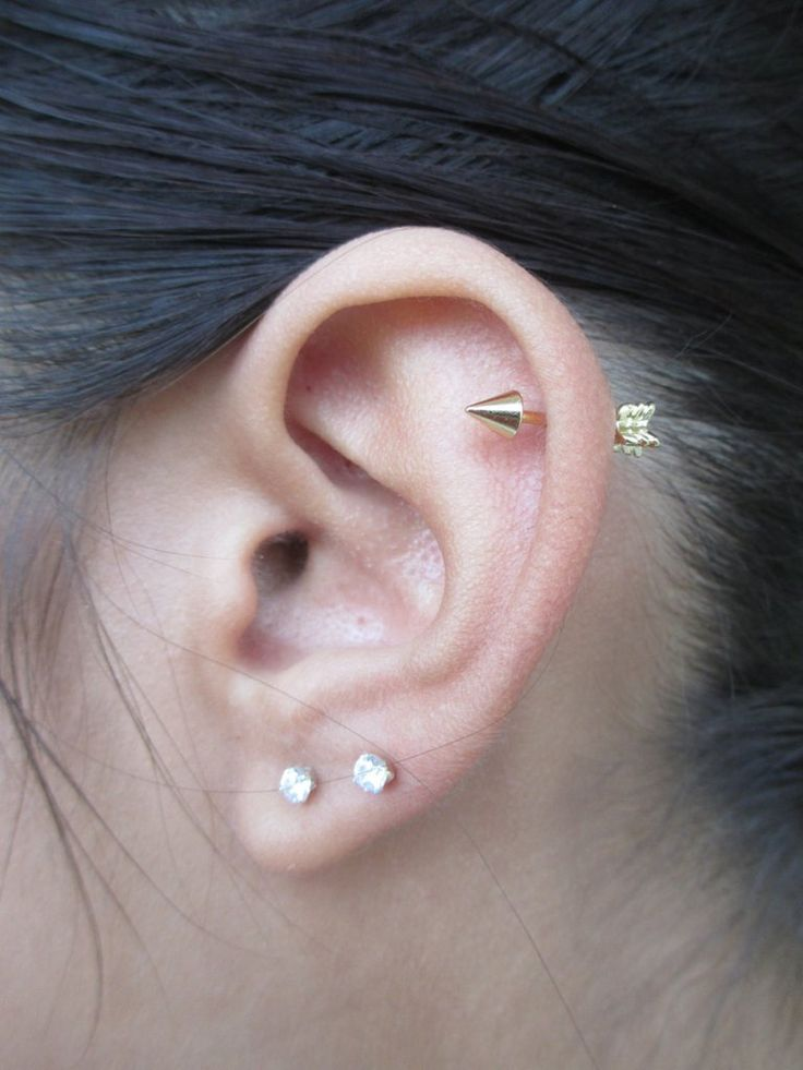 Simple Arrow Cartilage Piercing Jewelry at MyBodiArt