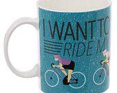 Coffee Cup Cycling Fun Bone China Mug Gift Idea