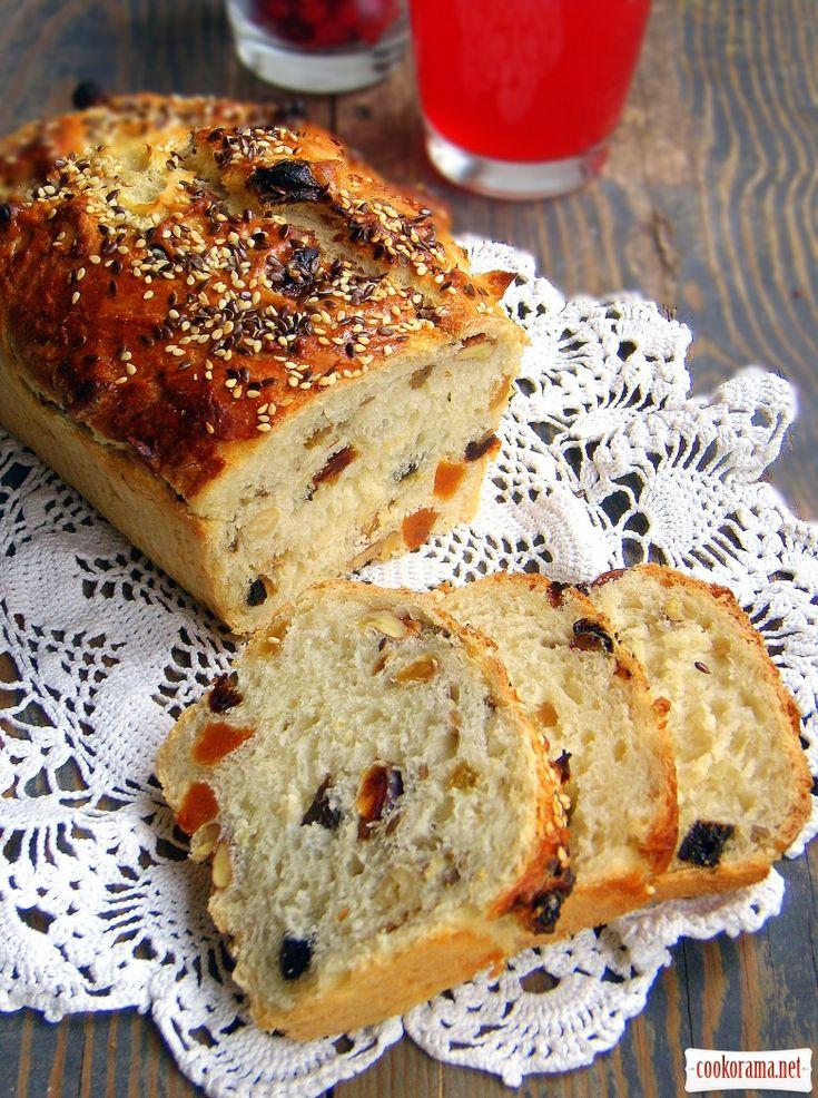 Десертный хлеб с сухофруктами и орехами