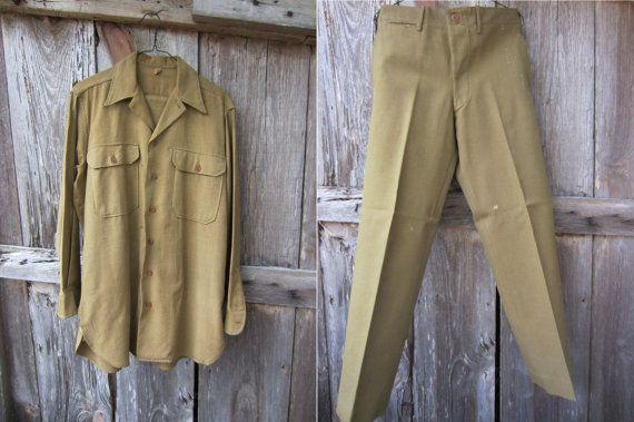 40s WWII US Army Uniform, M / W32 L3