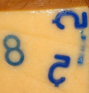 Plastic numbers pressed to the Cheese in Soviet Union, Estonia