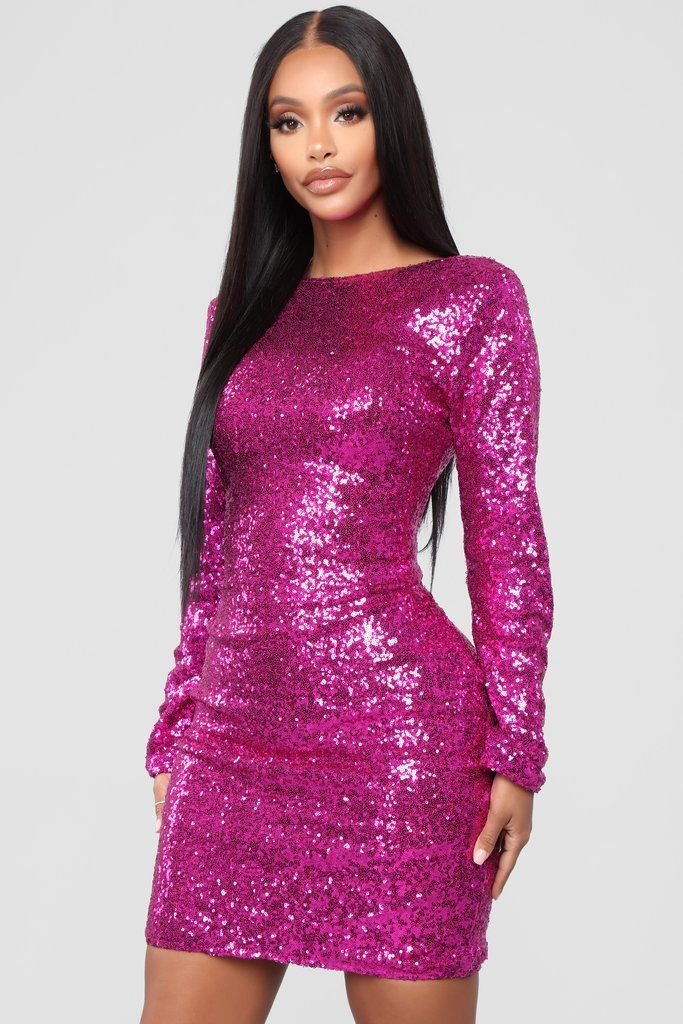 c6a9b9eb8bf6 Movie Magic Sequin Mini Dress - Fuchsia in 2019 | Women Clothing ...
