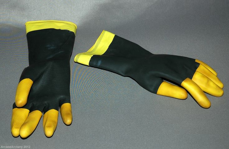 Rubberized electrician's gloves