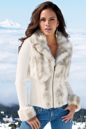 Boston Proper Snow bunny zip-front cardiganFaux Fur, Fur Coats, Boston Proper, Winter, Fashion Clothing, Fashion Style, Outfit, Snow Bunnies, Zip Front Cardigans