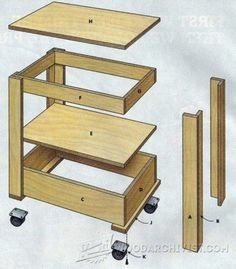 Small shop rolling table/cart.