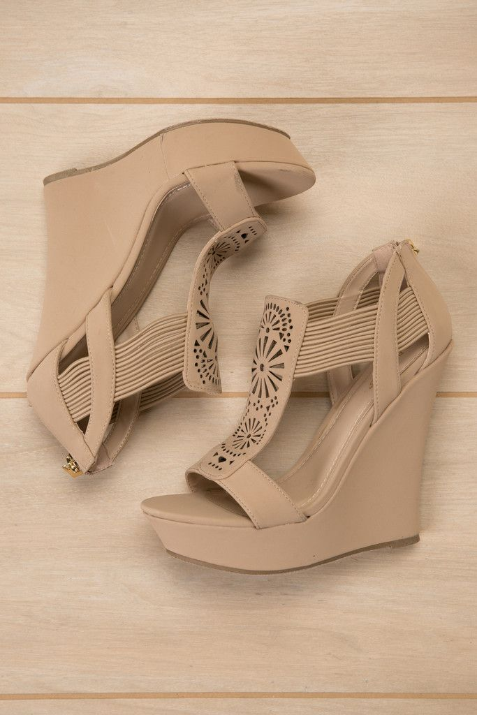 In Your Dreams Nude Wedge