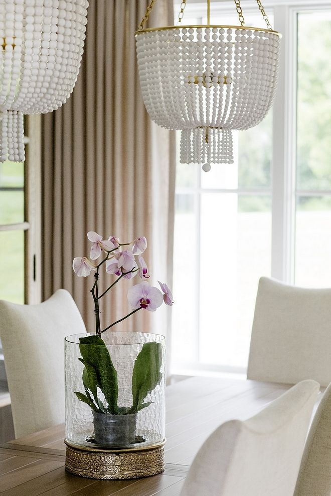 Dining Room Simple Table Decor Hurricane With Orchid Instead Of