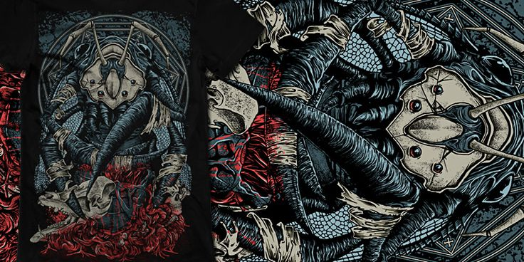 """""""for my blood"""" t-shirt design by burntilldead"""