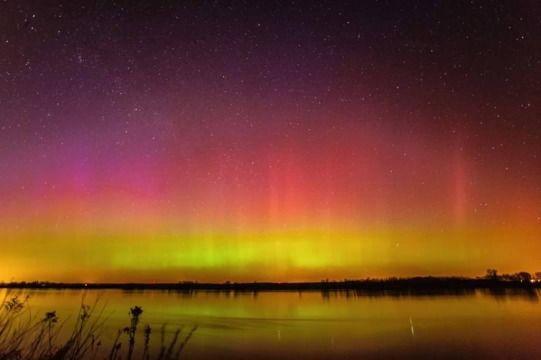 Aurora borealis , Poland. Zorza polarna nad Polską.