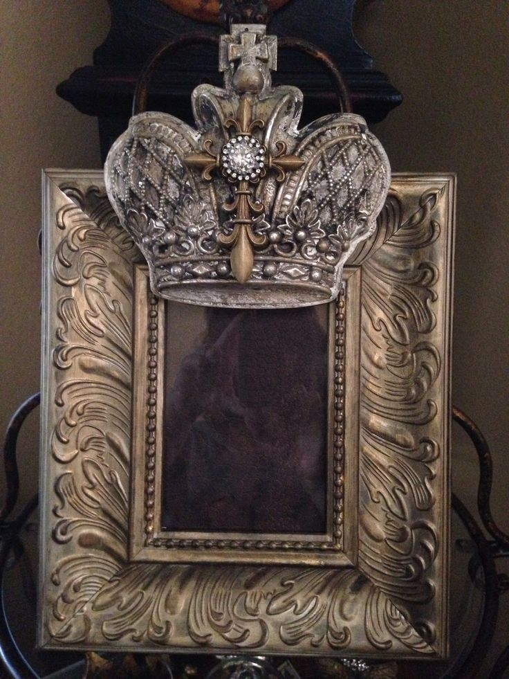 Another of my designs.KEEPER.A CROWN EMBELLISHED PICTURE FRAME THAT'S PERFECT FOR MY OLDWORLD FRENCH,TUSCAN,OLDWORLD,FRENCH COUNTRY DECOR.CHERIE