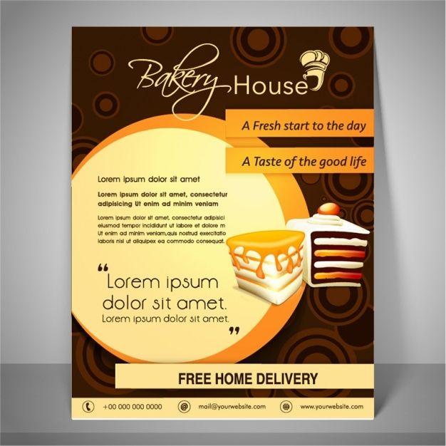 Bakery Brochure Template Vector Premium Download Flyer Brochure Template Free Flyer Design