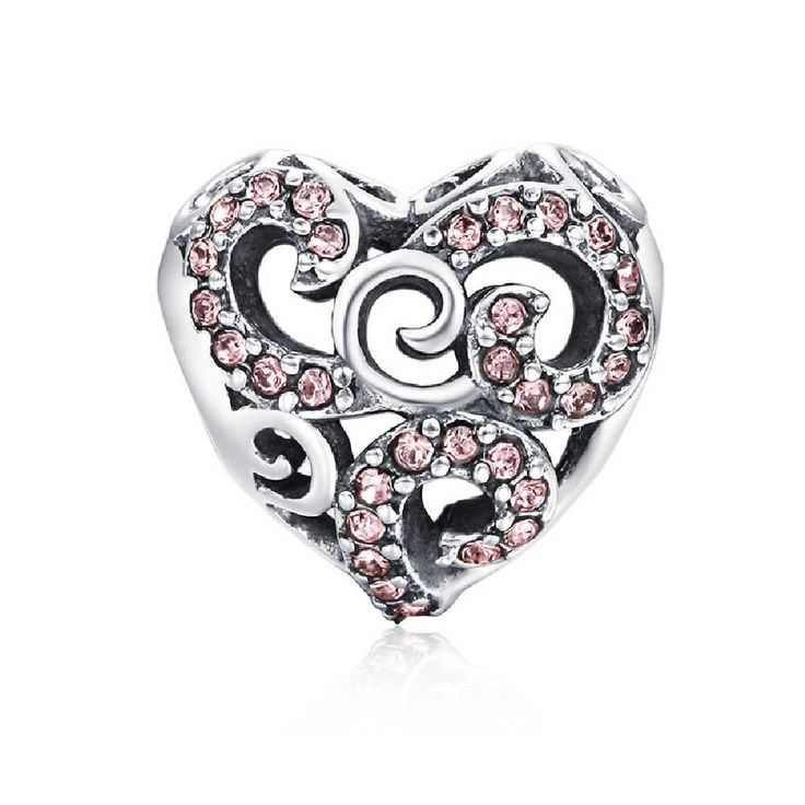 27€ - Soufeel 925 Sterling Silver SWAROVSKI Cristal Blossoming Flower Charm pour charm colliers bracelet