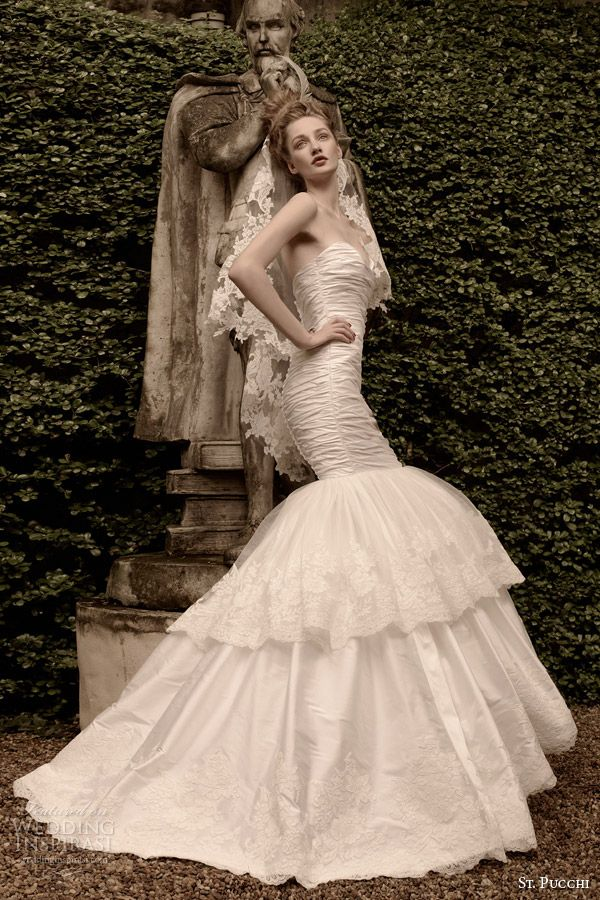 2015 designer wedding gown collections | st pucchi wedding dress 2014 2015 ariel strapless mermaid gown