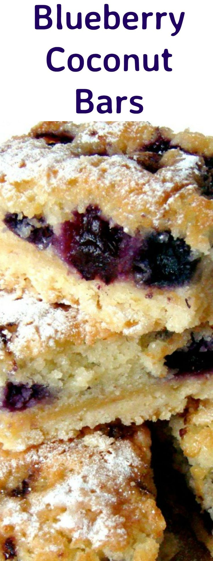 Blueberry Coconut Bars, Easy to make and very delicious too!