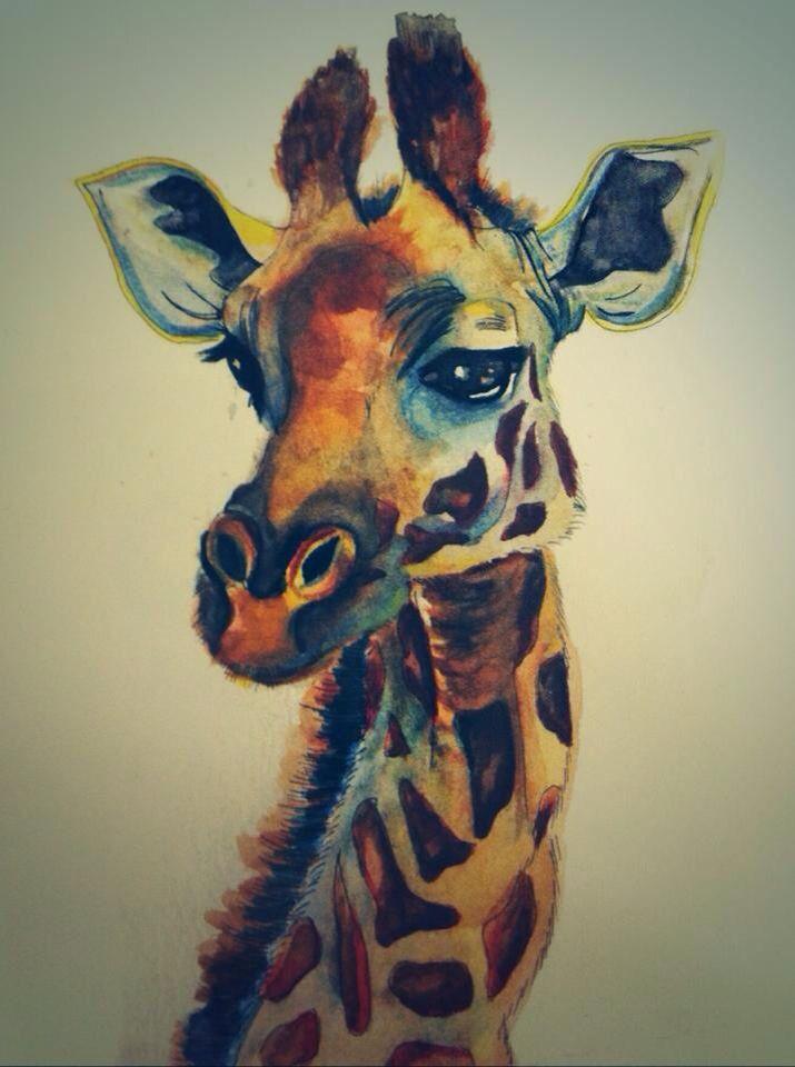 #animals #giraffe #watercolour #illustration #art