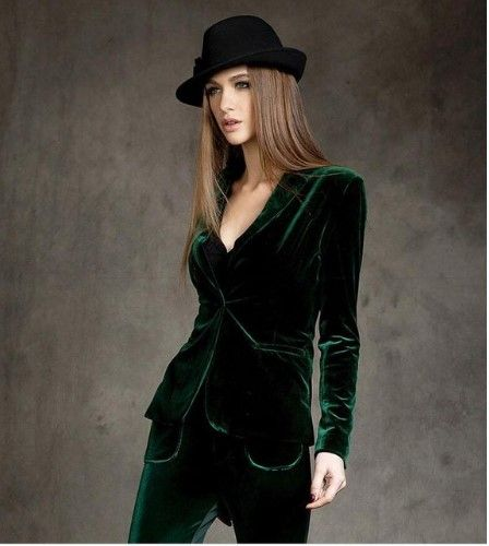 Female velvet jacket in dark emerald, red or black color | Женский бархатный пиджак в темно-изумрудном, красном или черном цвете