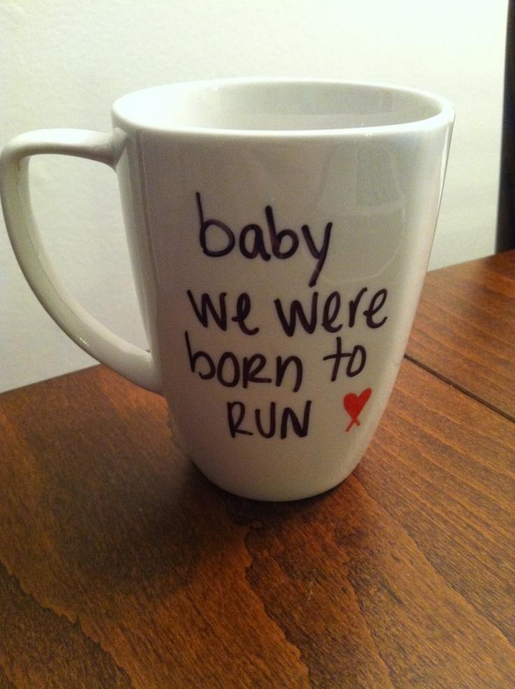 Bruce Springsteen Born To Run lyric mug. $15.00, via Etsy.