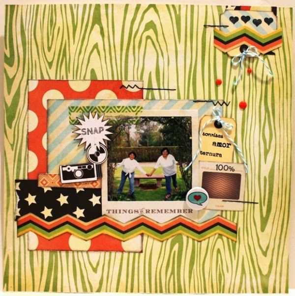 "Scrapbook Layout Con Fancy Pants Designs ""Memories Captured"""