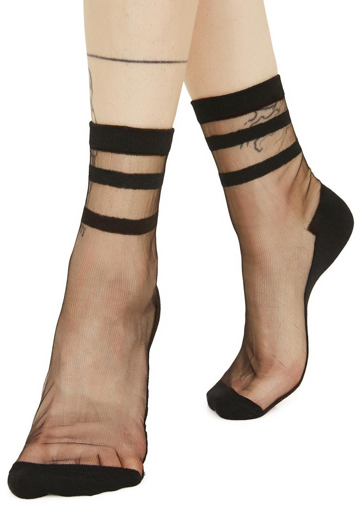River Styx Sheer Ankle Socks cuz you just like to dip yer toes in the darkness, bb...Step softly with some underworld vibes with these sikk ankle socks featuring a sheer construction, athletic stripes, opaque band at the ankle and solid panel along the bottom from heel to toe for a comfy fit.