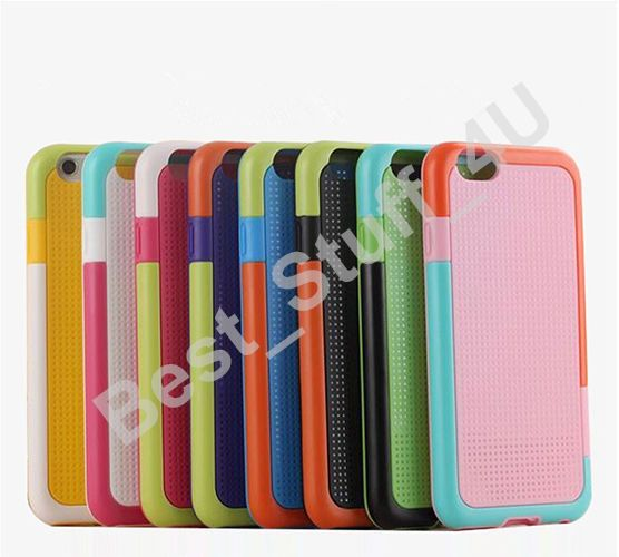 Hybrid Colourful TPU GEL Soft Back Case Cover For iPhone 6 4.7 /FREE PROTECTOR