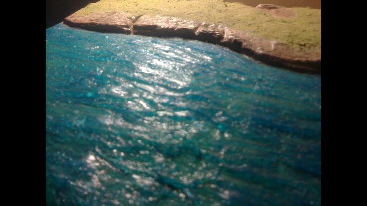 efecto de agua con silicona para maquetas # 1...fácil de hacer y económico