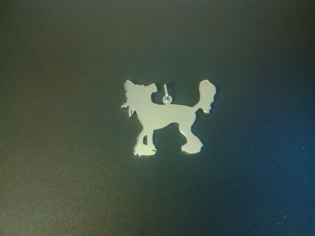 A Sterling Silver chinese crested pendant 35mm caroline howlett, £29.99