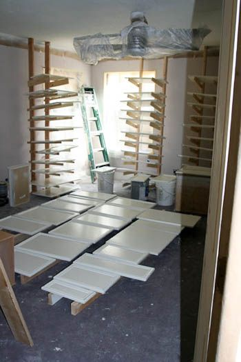 Make your own drying racks for painting cupboard doors ...