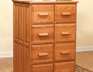 Espresso Wood 4 Drawer File Cabinet
